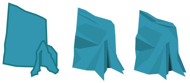 Aqualith mark development progression in blue