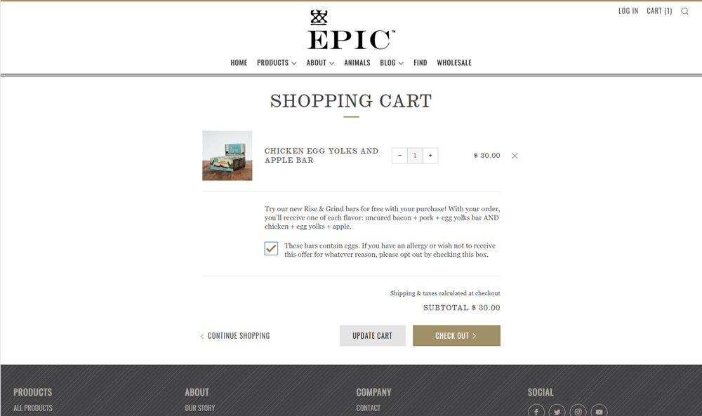 EPIC Provisions opt-out example